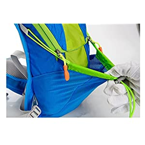 Theoutlettablet® Mochila Impermeable Bici para Ciclismo Bicicleta Bolsa Hidratacion Agua (2L) Mochila Capacidad 15 litros Montaña - Senderismo - Btt - MTB - Tipo Camelbak - Color Negro