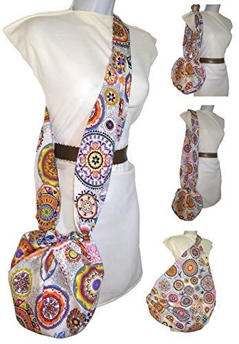 Borsa Mandala per donna. Multi-Purpose. È piccolo e diventa grande. Pulibile. Esclusivo Amazon / Handmade.