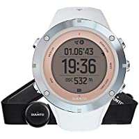 Suunto Ambit3 Sport Sapphire HR - SS020672000 - Reloj GPS Multideporte + Cinturón de frecuencia cardiaca (Talla M) - Sumergible 50 m - Blanco - Cristal Zafiro