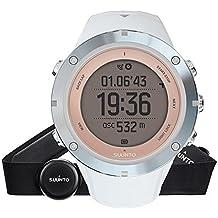 Suunto AMBIT3 PEAK HR - Reloj GPS mujer multisports/de exterior, 30 h de duración de la batería, monitor frecuencia cardiaca + cinturón de frecuencia cardiaca (talla: M), sumergible hasta 100 m, color safiro