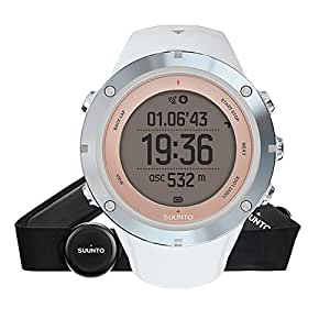 Suunto, AMBIT3 SPORT HR, Women's Multisports GPS Watch 15 Hrs. Battery Life, Heart Rate Monitor + Chest Strap in blue (Size: M), Waterproof up to 50 m, Sapphire, SS020672000