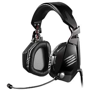 Mad Catz F.R.E.Q.7 Dolby 7.1 Surround-Sound-Gaming-Headset für PC, schwarz glänzend (3,5mm Klinkenstecker, 2m USB-Kabel, inkl. Headsetständer)