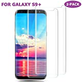 SURWELL Galaxy S9 Plus Screen Protector, [2 Pack] Samsung Galaxy S9 Plus Tempered Glass Screen Protector Film 3D Curved Full Coverage Case Friendly