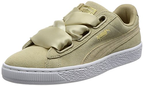 Puma Damen Basket Heart Metallic Safari Sneaker, Beige, 39 EU