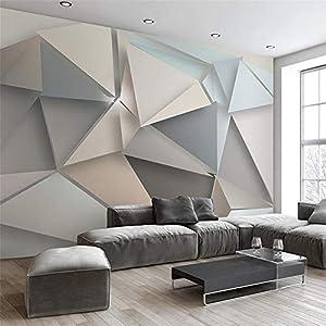 HOMEEN HD Wandbild Bilderwand-Papier-3D Moderne TV Hintergrund Wohnzimmer Schlafzimmer Abstrakte Kunst Tapete Geometrische Wandverkleidung Tapeten, 350x245 cm (137,8 von 96,5 in)