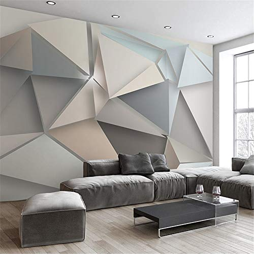 HOMEEN HD Wandbild Bilderwand-Papier-3D Moderne TV Hintergrund Wohnzimmer Schlafzimmer Abstrakte Kunst Tapete Geometrische Wandverkleidung Tapeten, 350x245 cm (137,8 von 96,5 in) - Abstrakte Kunst-muster
