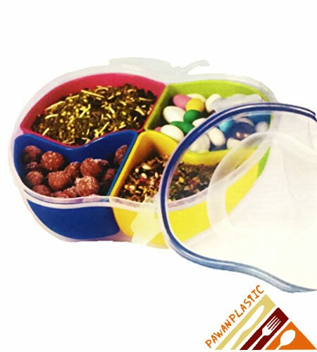 Lock & Fit Dry Fruit Tray - Multi Purpose Container To Store Dry Fruits, Namkeen, Biscuits, Choclates & Snacks  available at amazon for Rs.329