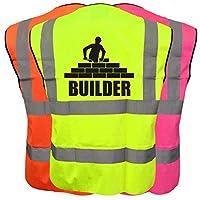 Builder Hi Viz Vis Kids Vest Joke Custom Waistcoat Child Plus a Brook Hi Vis UK Code for your next order