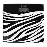 NWYJR Peso Bilance Da Bagno Zebra Sensori Ad Alta Precisione Ultra Slim Display Digitale Facile Da Leggere 23St/150Kg/330Lb,A