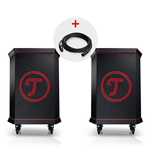 Teufel ROCKSTER Stereo-Set Schwarz Streaming Bluetooth Wireless Musik BT WiFi