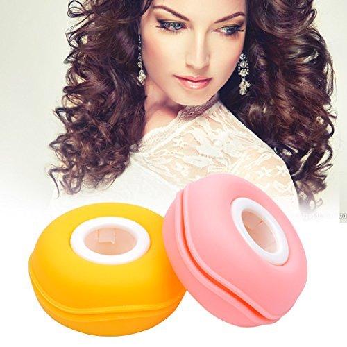 inkint Roller morbida capelli di plastica del bigodino di capelli dei Rolling pinze capelli Strumenti fai da te Carino Macaron Design per ragazze facile da trasportare (2 Set)