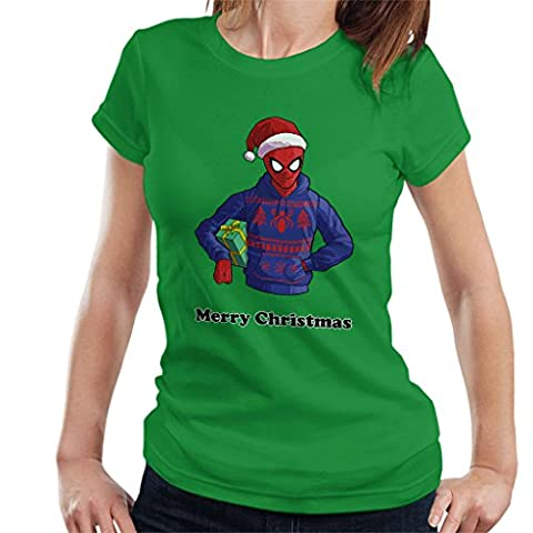 Spiderman Ugly Sweater Merry Christmas Women's T-Shirt