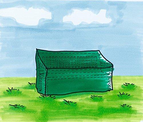 Bankhaube Bank (Maße: 180x60x60 / 80 cm, Farbe: grün)