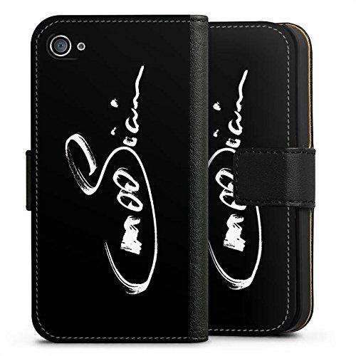 Apple iPhone X Silikon Hülle Case Schutzhülle M00sician Fanartikel Merchandise Autogramm Sideflip Tasche schwarz