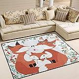 Jstel Ingbags Teppich in Fuchs-Design, für Wohnzimmer, Schlafzimmer, für Kinder zum Spielen, dekorativer Teppich, 203 x 147cm