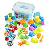 Motion Sand Assorted Molds Set - Childrens Moulding Toys For Sand or Play Dough