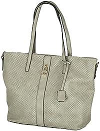 MB6150 - Samtlebe® - Großer Shopper Handtasche Tasche mit Allover-Lochmuster in Taupe