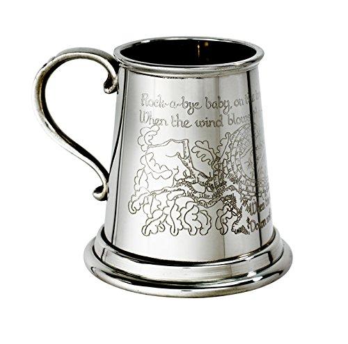Great Gifts UK Tolle Geschenke Trockenputz Rock A Bye Baby Zinn Tasse-1/4Pint/H: 75mm Basis Dia; 75mm -