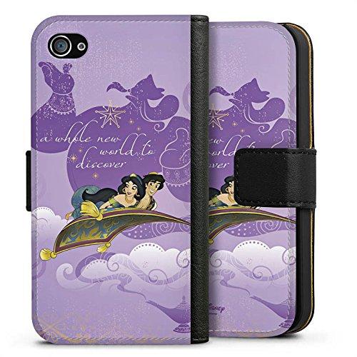 Apple iPhone X Silikon Hülle Case Schutzhülle Disney Aladin Geschenke Merchandise Sideflip Tasche schwarz