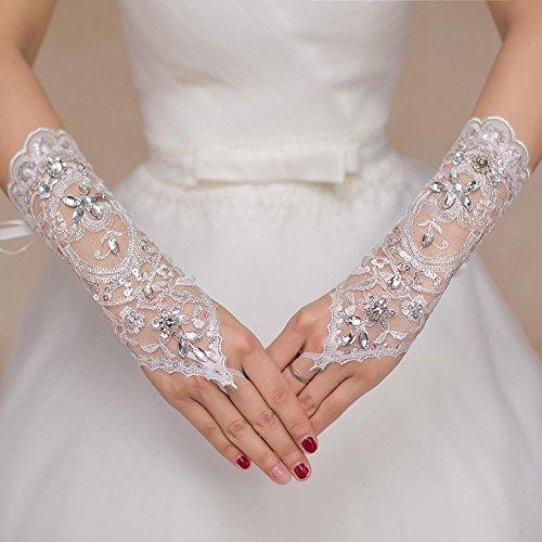 Märchen Sommer Handschuhe (Spitze-Winkelstück-Länge Wedding /)
