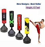 Sacco da boxe da terra, altezza 1,82 m, per kick boxing, MMA, Muay Thai, arti marziali, Avengers...
