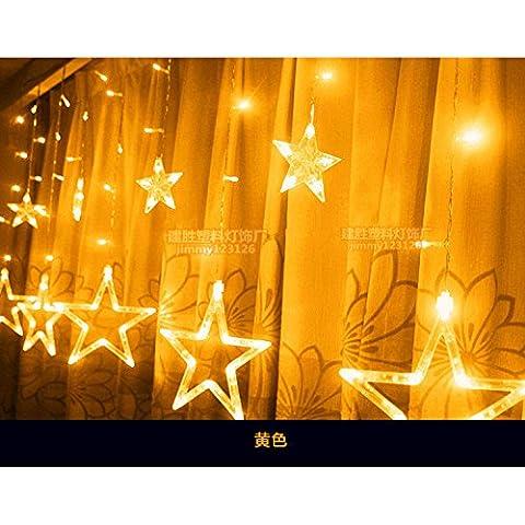 Illuminazione per esterni per case Natale Decorazioni Patio Led luci di Natale decorazione si accende,stelle grande giallo 6 6 piccole