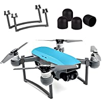 Kuuqa Landing Gear Leg Height Extender Set with 4 Pcs Silica Gel Motor Guard Protective Cover Accessories for DJI Spark (Dji Spark Not Included) by KUUQA