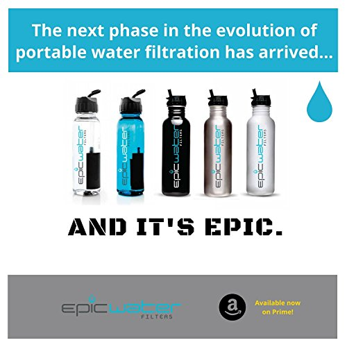 51aBgUejvtL. SS500  - Epic Water Filters EVERYDAY REPLACEMENT FILTER for Stainless Steel Bottle, Eco-Tritan Bottle, and The Answer