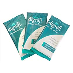 Dignifi Bath Wipes with Aloe Vera & Olive Oil for complete bath for bedridden patients (Pack of 15)