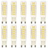 Neue Stil 10 Stück 7 Watt G9 LED Stiftsockellampe Leuchtmittel Lampe Leuchte Mit Keramik körper AC 220V Warmweiß