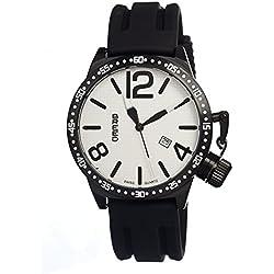 BREED brd3005–Montre de Poignet pour homme, bracelet en silicone noir