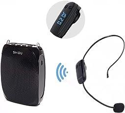 Sprachverstärker 1800mAh Wiederaufladbare Tragbare Drahtlose Stimmverstärker Lautsprecher mit Headset Mikrofon & verstellbare Taille Band