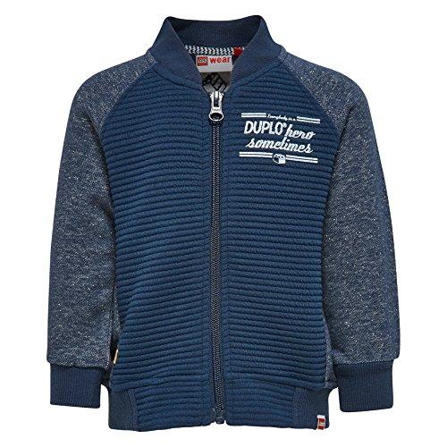 LEGO Wear Baby-Jungen Sweatshirt Duplo Sofus 302-Sweatjacke, Blau (Dark Navy 589), 92
