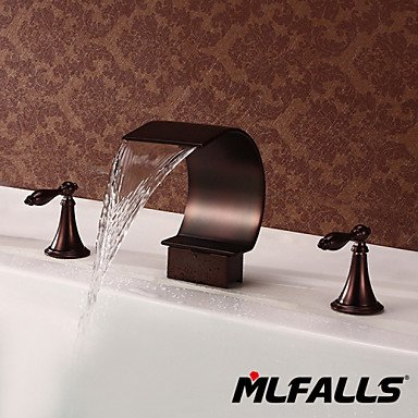 ZQ Bathroom Basin or Tub Waterfall Faucet Filler Hand Shower Oil Rubbed Bronze Tap