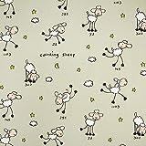 Fabulous Fabrics Cretonne Kinder Vorhangstoff Schafe