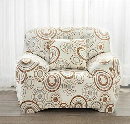 shinemoon Stretch Sofabezüge elastischer Stoff Easy Fit Couch Sofa Sessel Bezüge Pet Sofa Bezug Displayschutzfolie, Polyester, Circles Pattern, 1 Seater