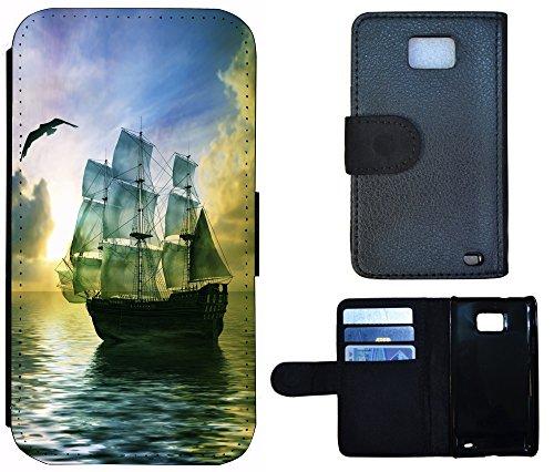 Flip Cover Schutz Hülle Handy Tasche Etui Case für (Apple iPhone 6 / 6s, 1224 Segelschiff Schiff Meer) 1224 Segelschiff Schiff Meer
