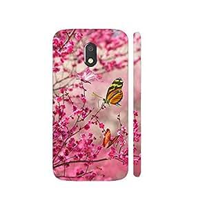 Clapcart Butterflies Designer Printed Mobile Back Cover for Motorola Moto E3 / Moto E3 Power / Moto E 3rd Generation - Colorful