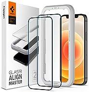 سبايجن GLASTR Align Master [عبوتان] مصمم لايفون 12 وايفون 12 برو واقي شاشة (6.1 بوصة) زجاج مقوى ممتاز - [غطاء