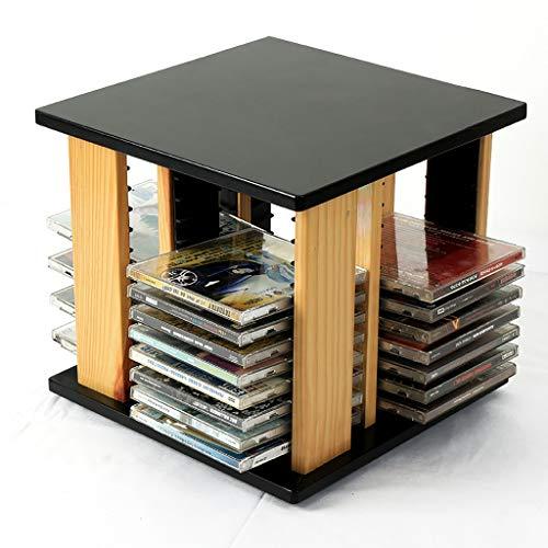 GWXJZ CD Regal CD-Aufbewahrungsregal CD-Lagerregal Desktop-CD-Rack 360 ° drehbares CD-CD-Fach Ps4 CD-Aufbewahrungstasche DVD-Halter Finishing Rack -