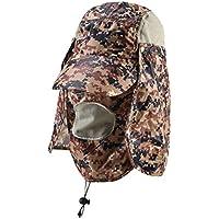 MEICHEN-Outdoor sun protection Hat Camo jungle cappelli all'aperto fisherman Hat Cappello da sole traspirante e ad asciugatura rapida Hat,Digital kaki