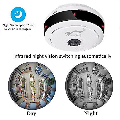 Mini IP Kamera 960P Panorama WiFi HD Zuhause Geschäft Sicherheit IP Videoaufnahme Nachtsicht - 6