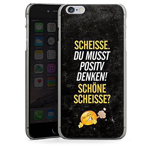 Apple iPhone X Silikon Hülle Case Schutzhülle Lustig Sprüche Humor Hard Case anthrazit-klar