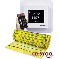 4.5 m/² 200 Watt pro m/² mit Thermostat QM-AG elektrische Fu/ßbodenheizung FOXYMAT.SL RAPID 0.5m x 9m