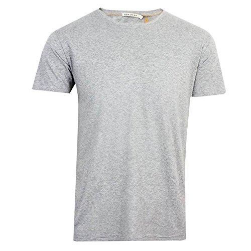 nudie-jeans-co-o-neck-short-sleeved-t-shirt-grey-melange-extra-large