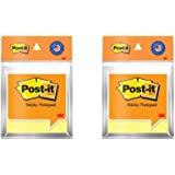 """3M Post-it Sticky Notes (3"""" X 3"""") - Pack of 2 (2x100 Sheets, Canary Yellow)"""