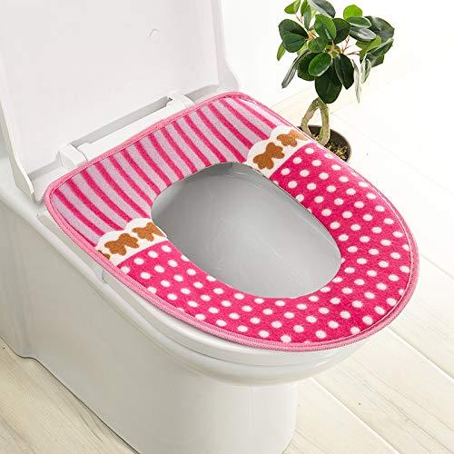 Trap-o-ring (BAOZIV587 2er-Pack WC-Sitzkissen Haushalt Toilettendeckel Aufkleber WC-Trap Waterproof Universal-Toilettendeckel Sommer, Pink Dot Glue)