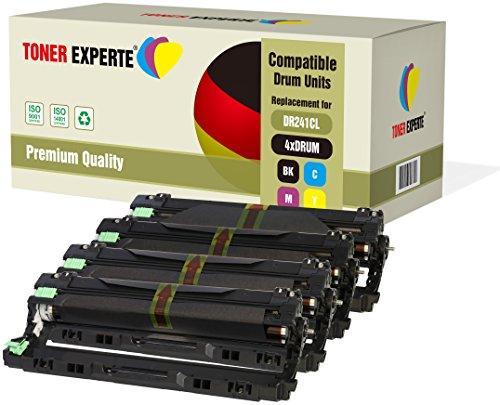4er Set TONER EXPERTE® Trommeln kompatibel zu DR241CL (15000 Seiten) für Brother DCP-9015CDW DCP-9020CDW MFC-9140CDN MFC-9330CDW MFC-9340CDW HL-3140CW HL-3142CW HL-3150CDW HL-3152CDW HL-3170CDW HL-3172CDW MFC-9130CW - Trommel Kompatibel Toner-drum