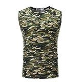 Herren Tank Tops,Dasongff 2018 Mode Tanktop Herren Casual Camouflage Tops Print Shirts O Neck Sleeveless T-shirt Top Männer Weste Bluse (M, Armee-Grün)