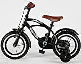 12 Zoll Fahrrad Qualitäts Kinderfahrrad matt schwarz bike Black Cruiser - 5